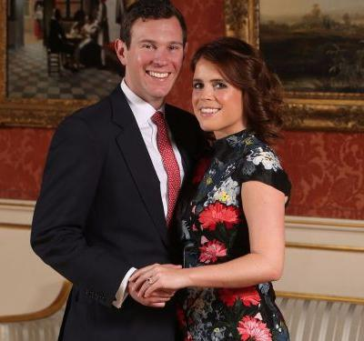Princess Eugenie wore a $5,000 dress to announce her engagement - here's how her outfit compares to Meghan Markle's $531 dress