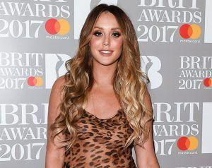 Charlotte Crosby Works Leopard Print At The BRIT Awards