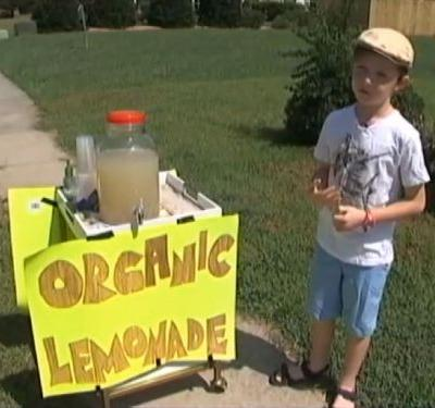 Boy whose lemonade stand was robbed gets big gift from Lowe's