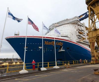 Carnival Cruise Line's Mardi Gras 'Floated Out' at Meyer Turku