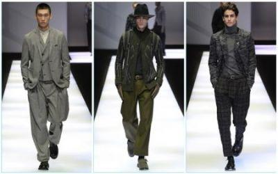 Emporio Armani Does Graphic Tailoring for Fall '17 Collection
