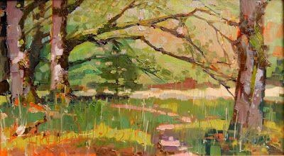 """""""Maple Grove"""" Paint the Peninsula, plein air landscape painting by Robin Weiss"""