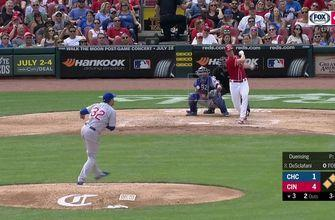 WATCH: Anthony DeSclafani slugs grand slam to start Reds' rout of Cubs