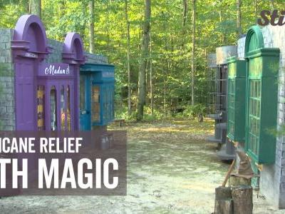 'Harry Potter'-themed backyard helps raise money for hurricane relief