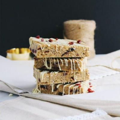Cranberry No-Bake Protein Bars