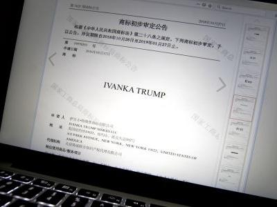 China grants Ivanka Trump 5 trademarks amid trade talks