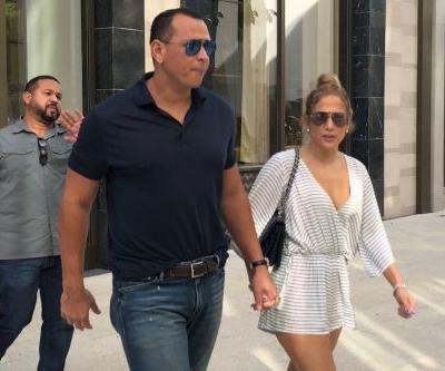Jennifer Lopez and Alex Rodriguez spotted jewelry shopping in Miami