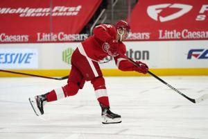 Vrana scores in Detroit debut, Red Wings beat Chicago 4-1