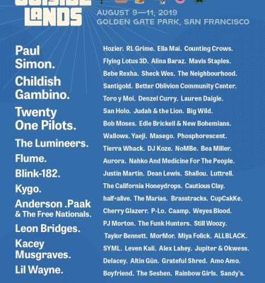 Outside Lands 2019 Lineup