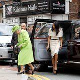 Watch Meghan Markle Avoid a Very Awkward Moment With the Queen Before Getting Into the Car